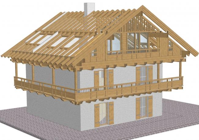 neuer dachstuhl in altholzoptik und chaletartiken stil zimmerei maurer garmisch partenkirchen. Black Bedroom Furniture Sets. Home Design Ideas